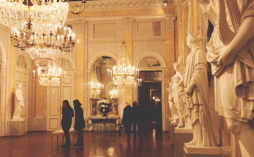 Waltzing through the Albertina Palace in Vienna.