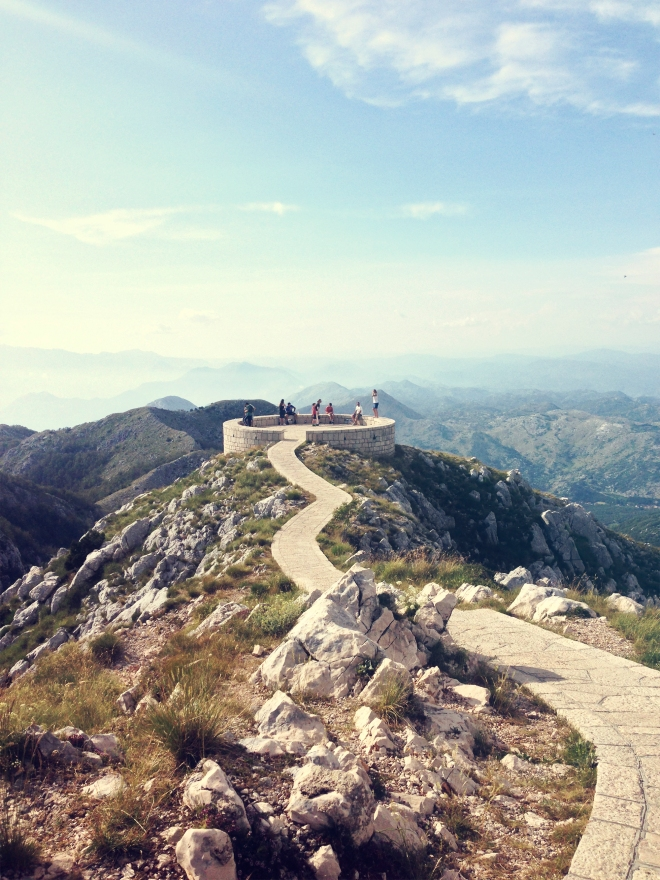 The viewpoint in Lovcen National Park in Montenegro